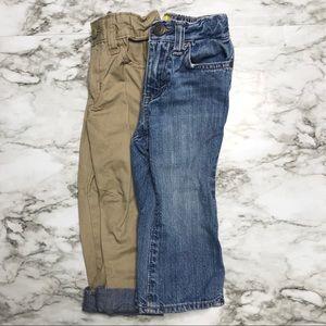 🎉Bundle baby boy denim jeans and khakis